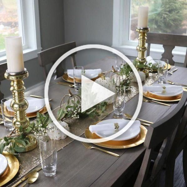 I cant believe Thanksgiving is a week away Im hosting brunch this year and I found some great pieces to make our dining table from pier1 come together My gold pillar cand...