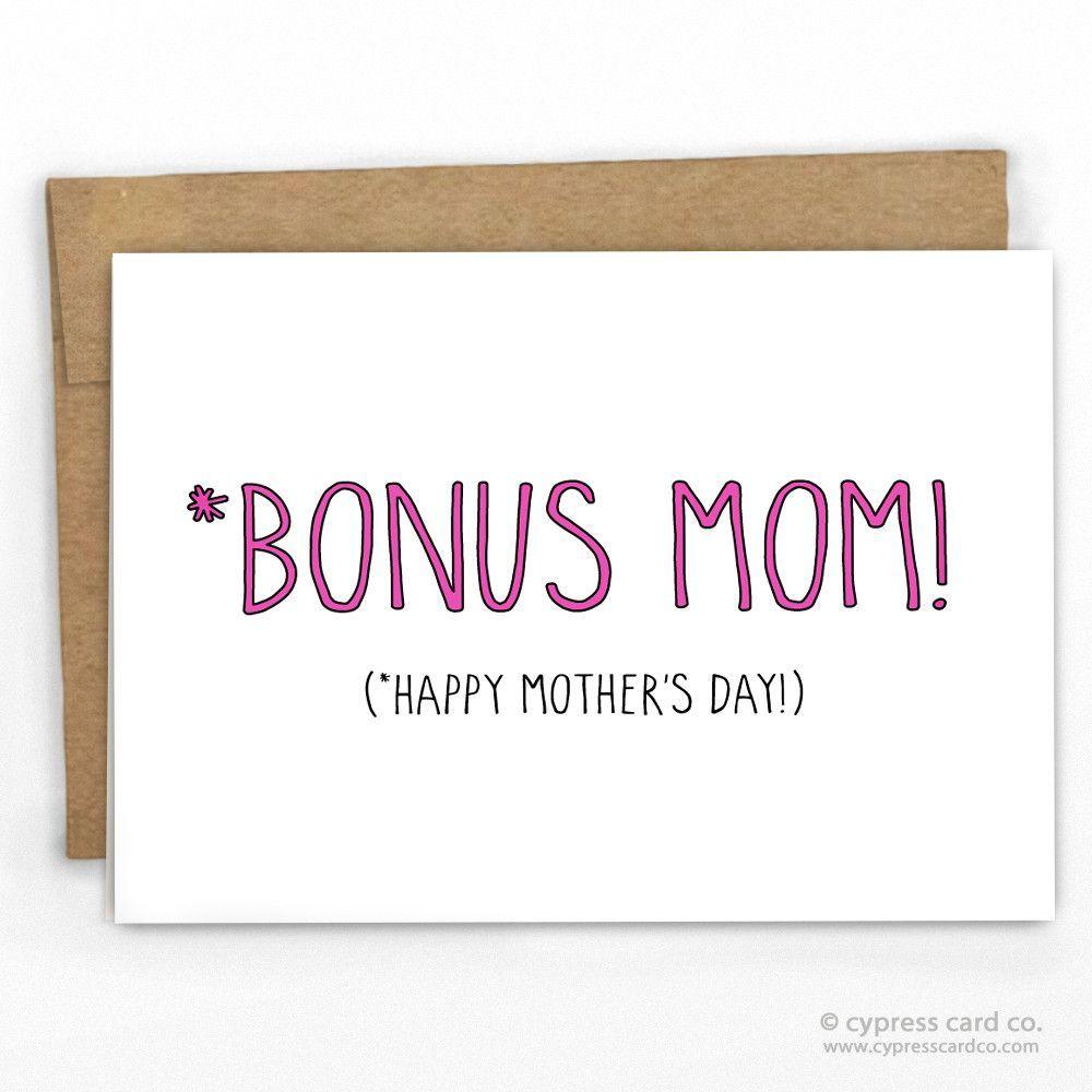 Bonus Mom Card Pinterest Kraft Envelopes Card Stock And Envelopes