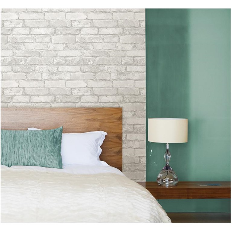 Wallpops Grey And White Brick Peel Stick Wallpaper Home Hardware In 2020 White Brick Wallpaper Brick Wallpaper Removable Brick Wallpaper