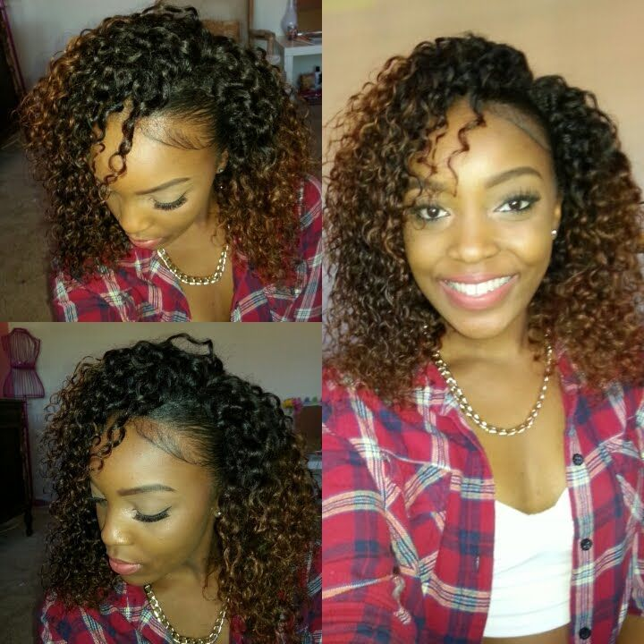 How To Blend Natural Hair With Curly Weave No Heat Video Curly