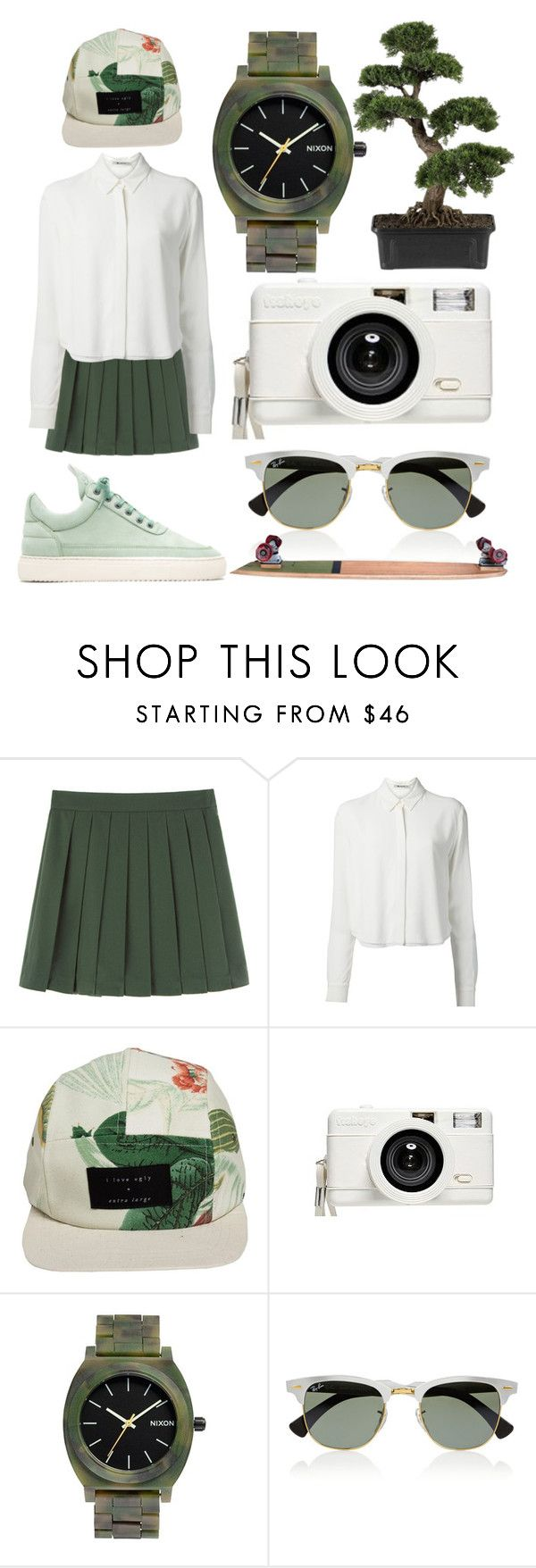 """""""Back to School vol.2"""" by mammutipoeg ❤ liked on Polyvore featuring T By Alexander Wang, I Love Ugly, Lomography, Nixon, Ray-Ban and Nearly Natural"""