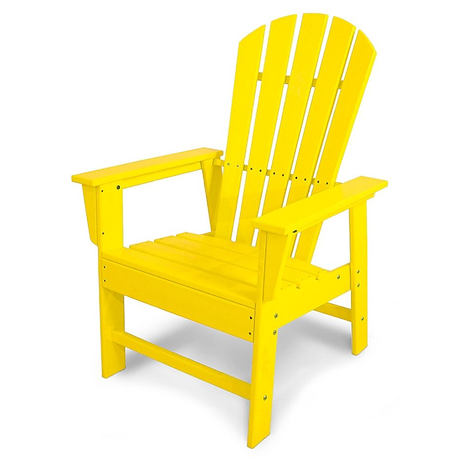Polywood South Beach Casual Chair In Lemon Recycled Plastic