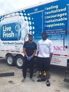 Chris Bentley and Carlos Miller Start LiveFRESH Mobile Shower Facility for…
