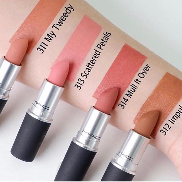 Amazing shades of nude from Mac lipsticks