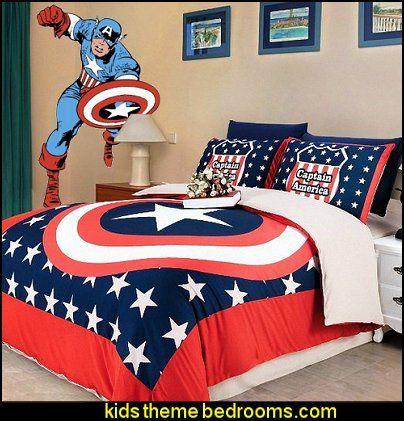 Captain America Bedroom | Decorating Theme Bedrooms Maries Manor Captain America Master
