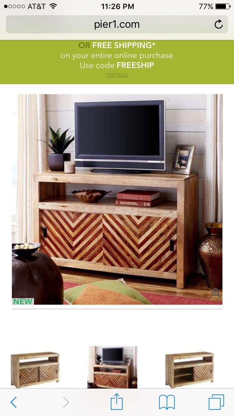 Pier 1 Imports Kandhi Tv Stand Home Decor Tv Stand Entertainment Unit