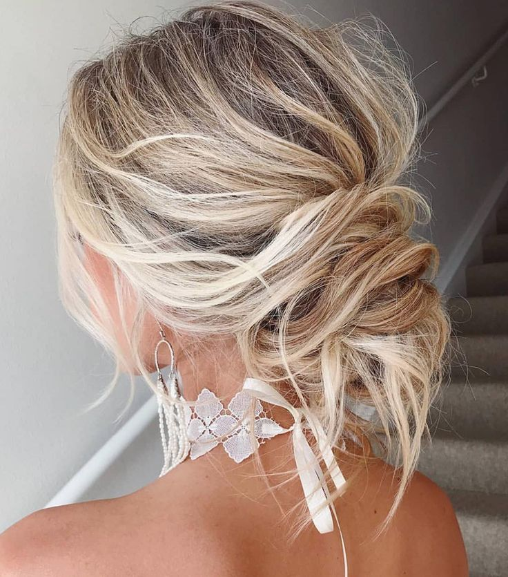 Trending Now: Boho-Chic Messy Bun Wedding Hairstyles | Green Wedding Shoes