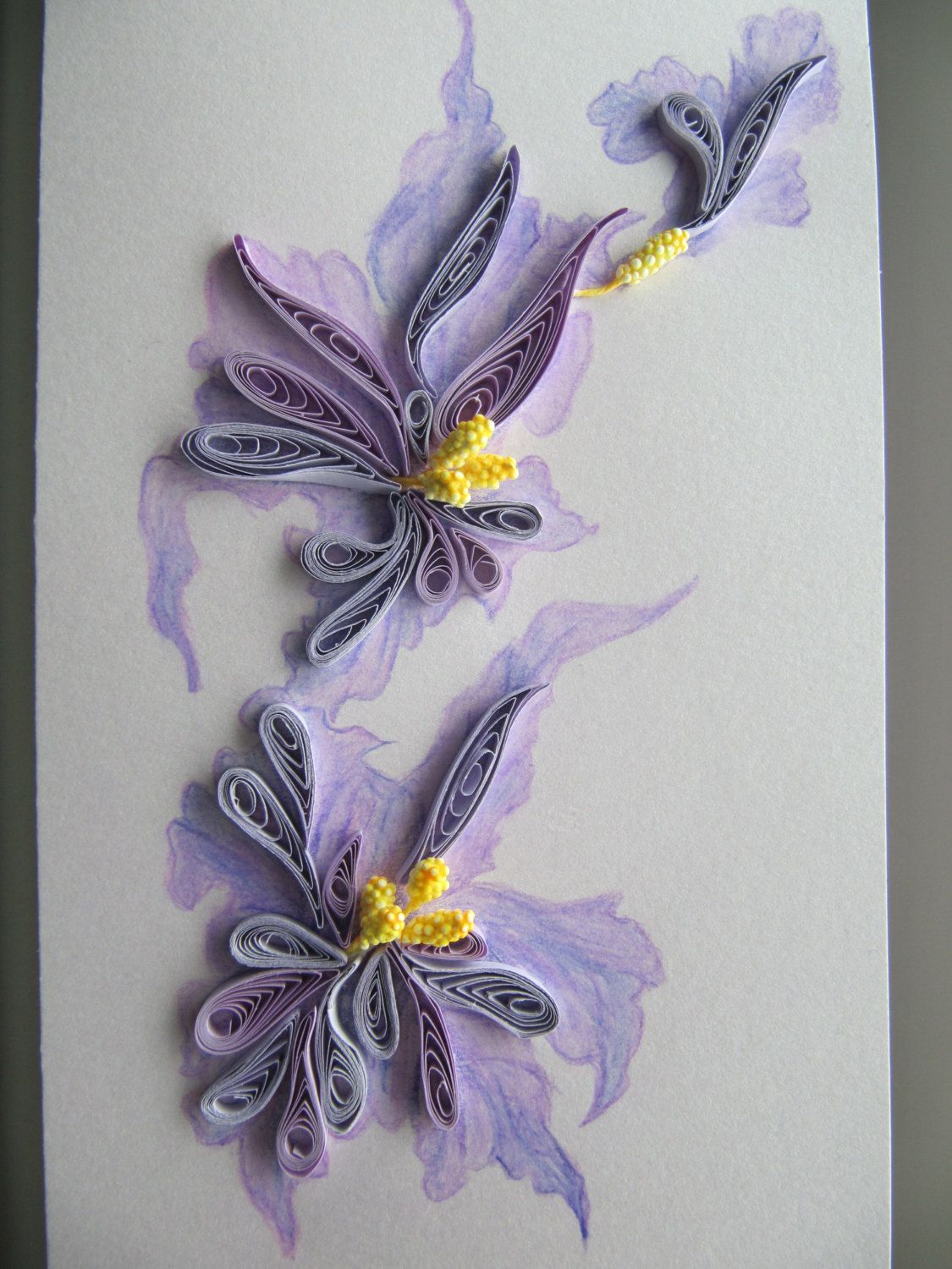 Handmade painting and quilling greeting card birthday gift card handmade painting and quilling greeting card birthday mothers day quilling art kristyandbryce Images