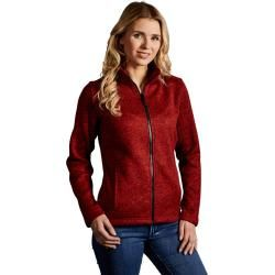 Photo of Strick-Fleece Jacke C+ Damen, Rot-Melange PromodoroPromodoro