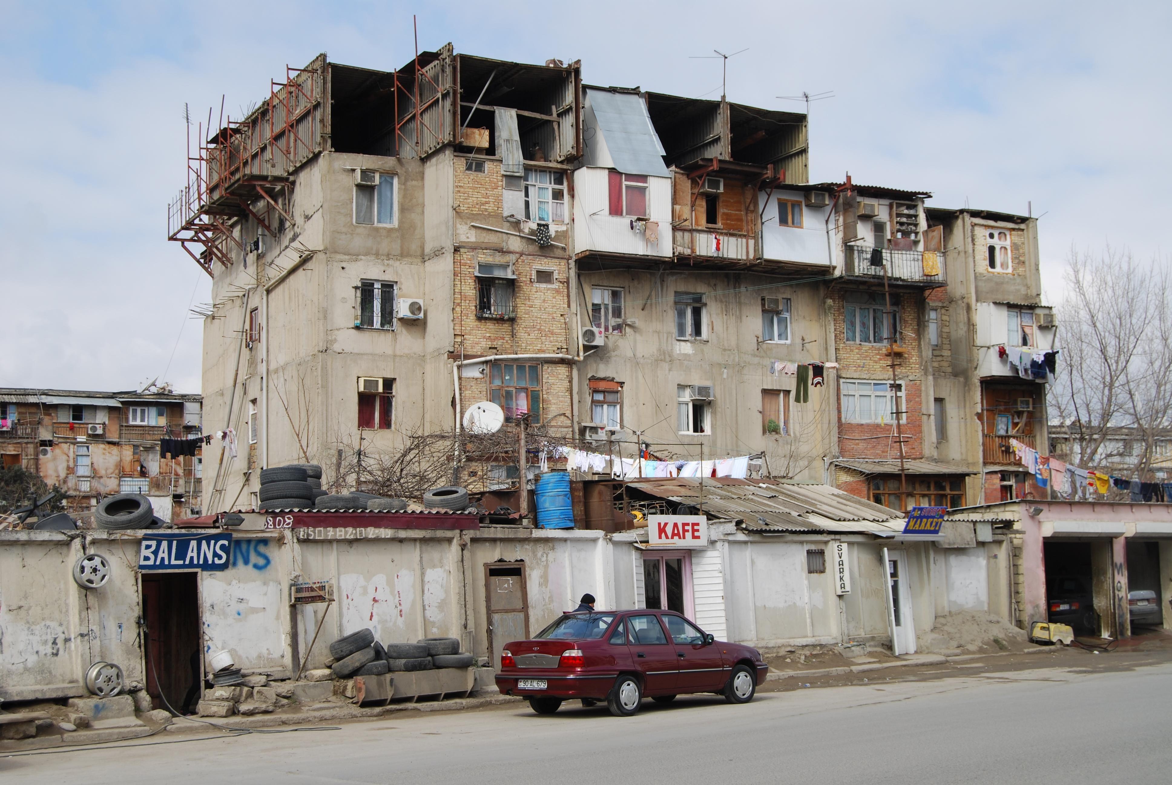 Soviet Style Apartment Building In Baku Azerbaijan Baku Baku City Azerbaijan