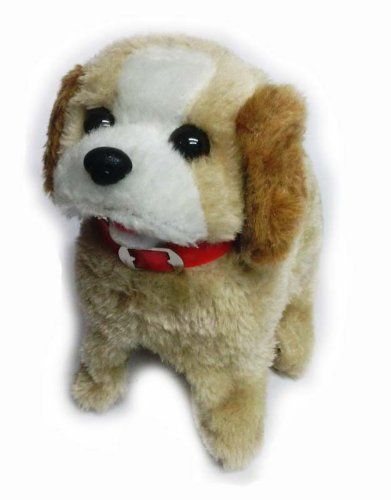 Generic Fantastic Jumping Puppy Toy Medium Brown Want