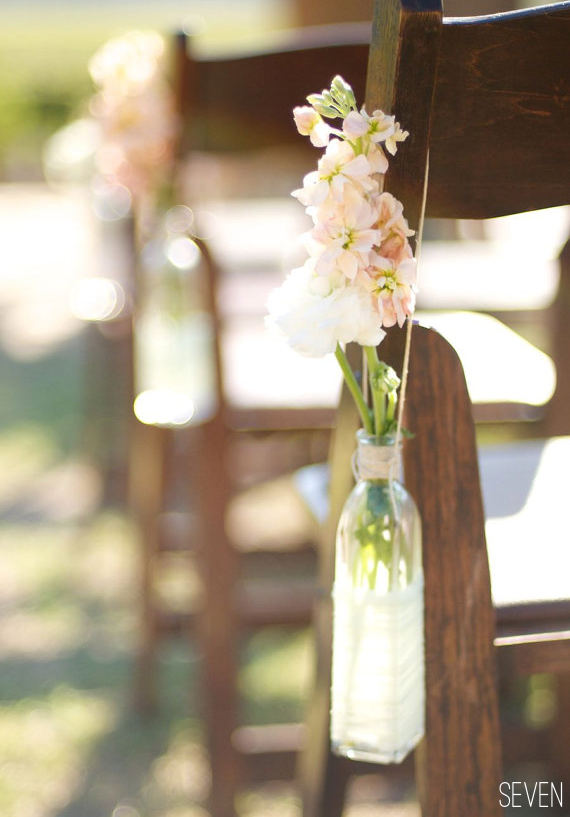 Aisle Chair Decor Close Up Of How To Hang Use Flowers And Recycled Bottles As Markers Tie Chairs Or Sit Them On The Ground By