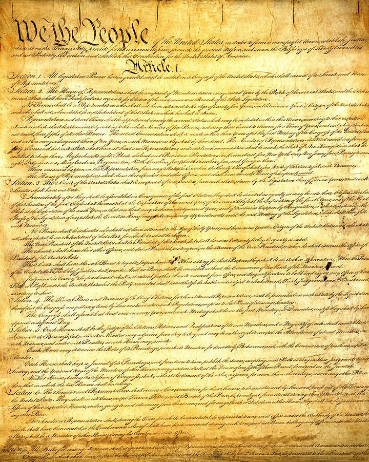 The Constitution of the United States of America b