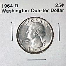 1964 D Washington Silver Quarters