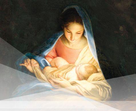 Maria Segurando O Menino Jesus Igreja Santo Dos Ultimos Dias A