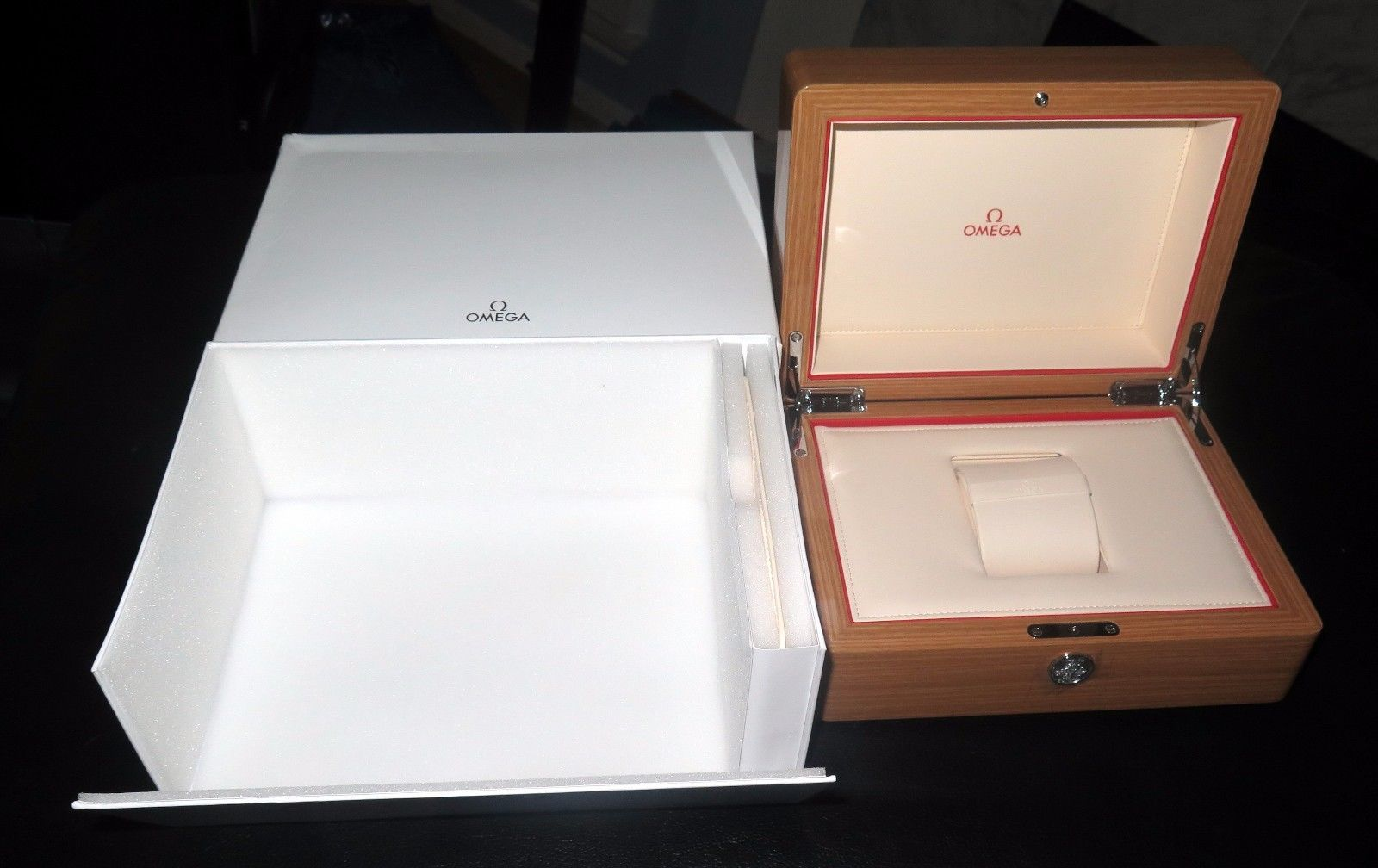 Boxes Cases And Watch Winders 173695 New Omega Watch Wooden Box