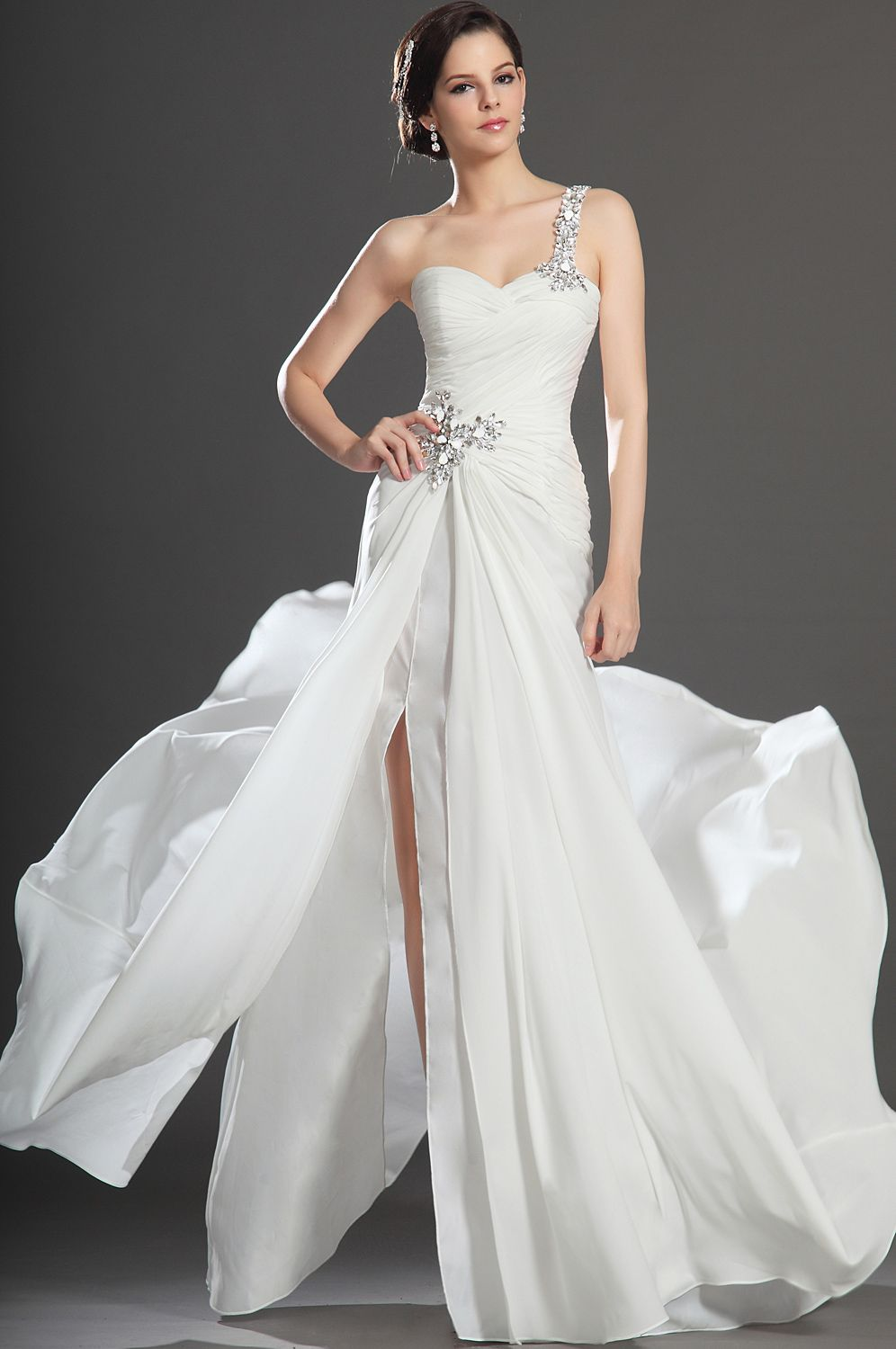 Images of Simple White Evening Gowns - Reikian