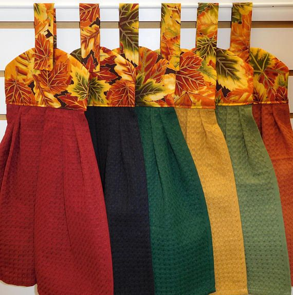 644 Fall Leaves Hanging Towels Choose Color And Quantity Fall