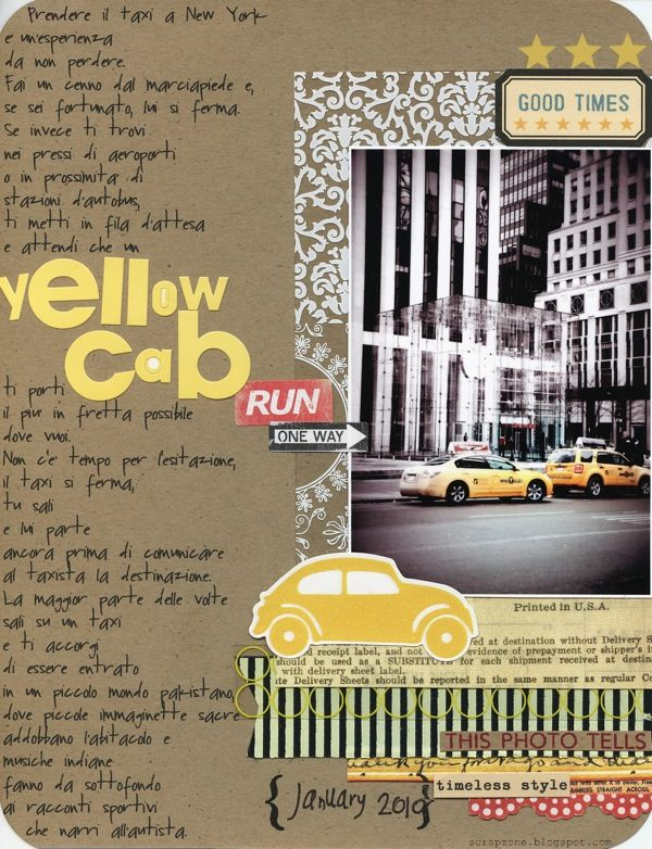 Yellow Cab In Ny Yellow Scrapbook Pages Movie Posters