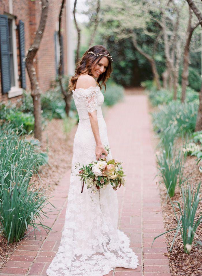 Dress Hair Flowers Natural Boho Feel Amazing Wedding