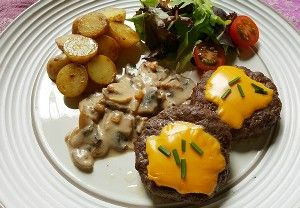 Resep Daging Cheese Burger Saus Jamur Resep Daging Makanan Sehat Makanan