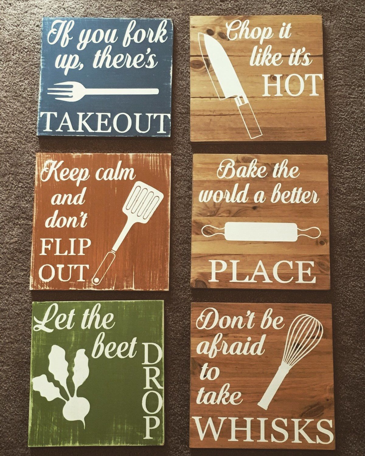 Chop It Like S Hot Funny Kitchen Signs Decor Rustic