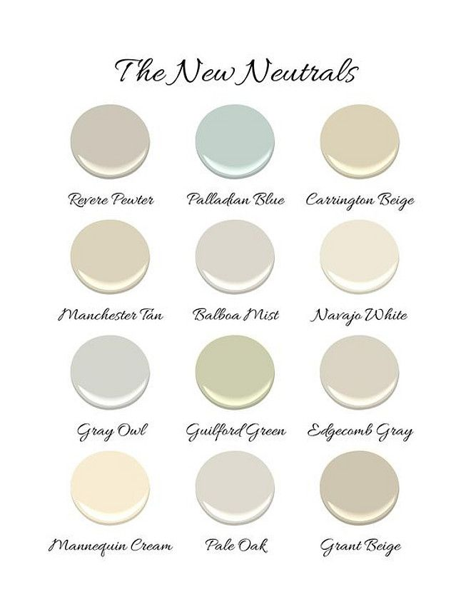 New Neutral Paint Colors By Benjamin Moore