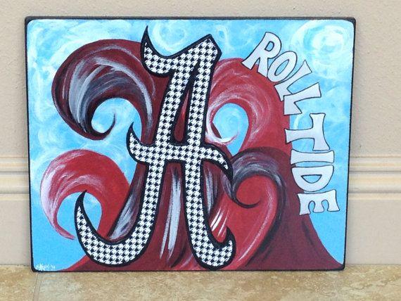 Alabama Roll Tide Original Mixed Media by CarriesCustomCreatio, $67.50