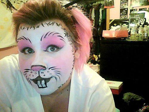 Rabbit Make-up | Bunny Makeup | MAKEUP: Easter Bunny | Pinterest ...