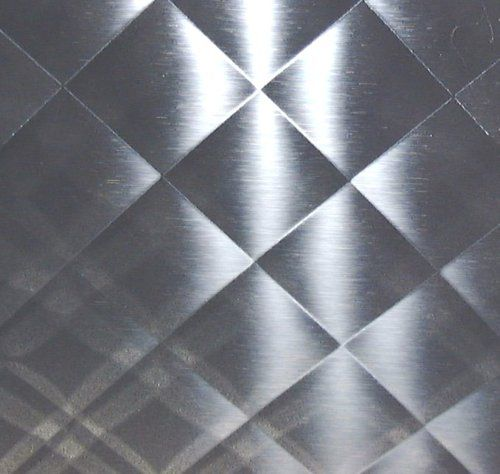 3  QUILTED MIRROR STAINLESS STEEL 23 x 29 NEW BACKSPLASH ART METAL ... : quilted stainless - Adamdwight.com