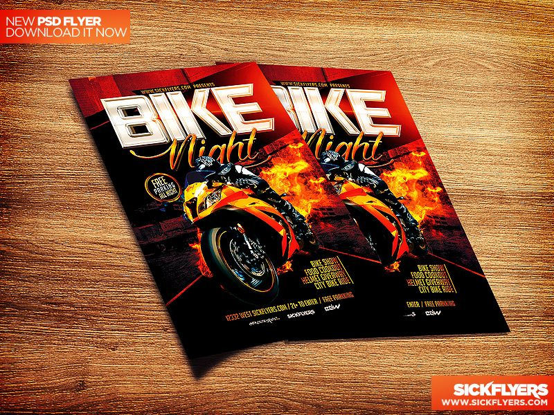 Bike Night Flyer Template PSD by Industrykidzdeviantart on - Bylaws Templates