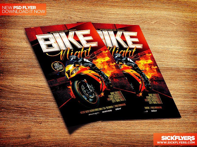 Bike Night Flyer Template Psd By Industrykidz Deviantart Com On Deviantart Flyer Template Flyer Templates