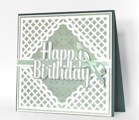 Download Diamond Lattice Frame   Birthday card template free ...