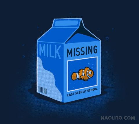 Missing Fish – T-shirt available at Naolito.com