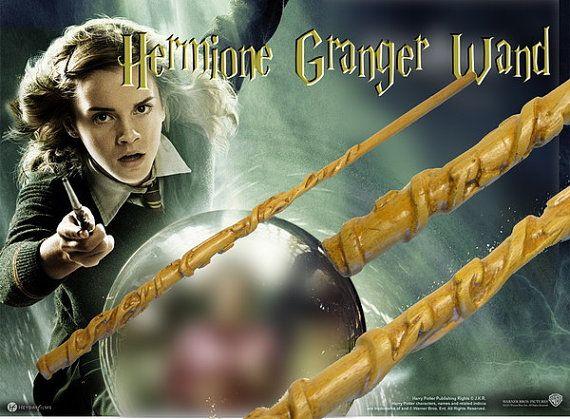 Hermione Granger Magic Wand Replica Harry Potter Etsy Com 14 99 Kostenlos