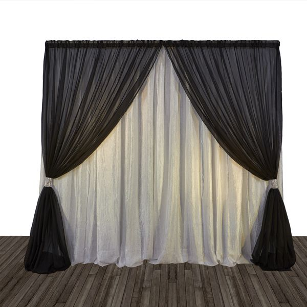 Diy Drapes For Wedding: Economy 1 Panel 2 Tone Curtain Backdrop 8ft Tall Or 8ft