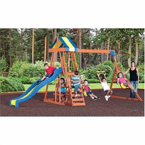 Backyard Discovery Yukon Iii Swing Set On Sale Academy Sports