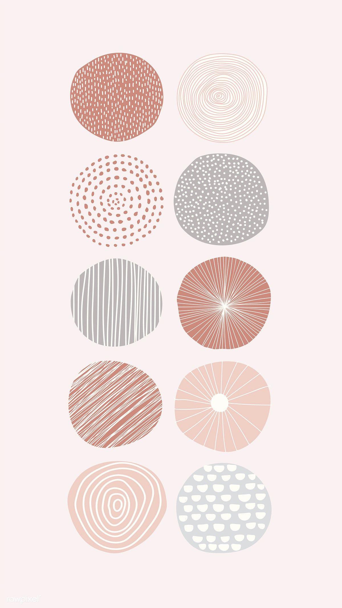 Download Premium Illustration Of Round Patterned Doodle Background