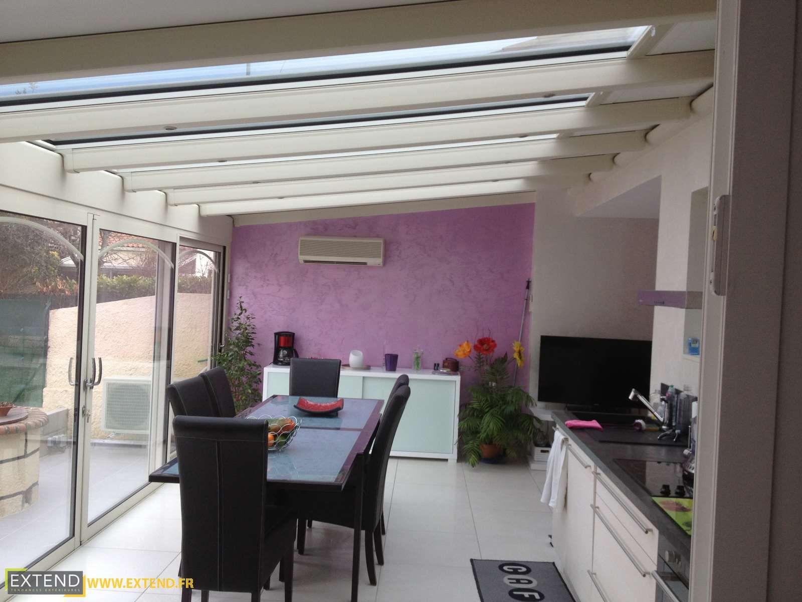 Veranda Extension Salle A Manger Avec Puit De Lumiere Realise Par Extend Extend Albi Extension Veranda Tarn 81 Amenagement Veranda Veranda Maison