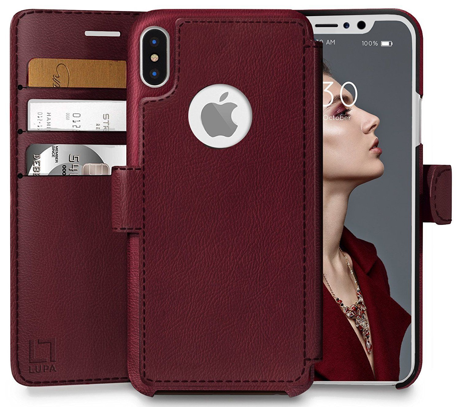 Ecofriendly credit card wallet phone case for iphone x 10