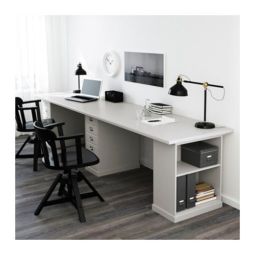 Klimpen Table Light Grey Grey 300x75 Cm Ikea Cheap Office