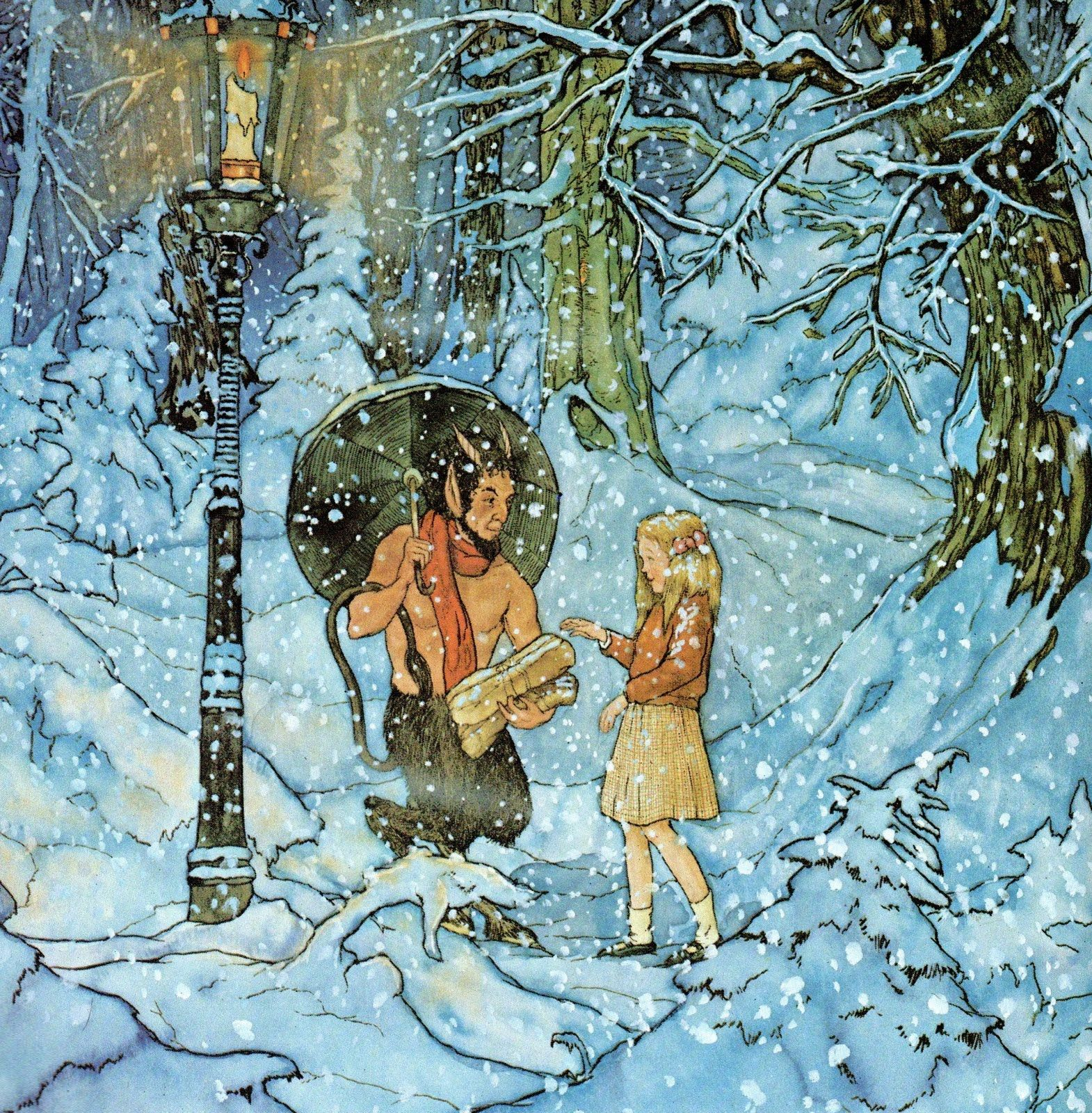 Image result for gas lamp narnia lucy mr tumnus
