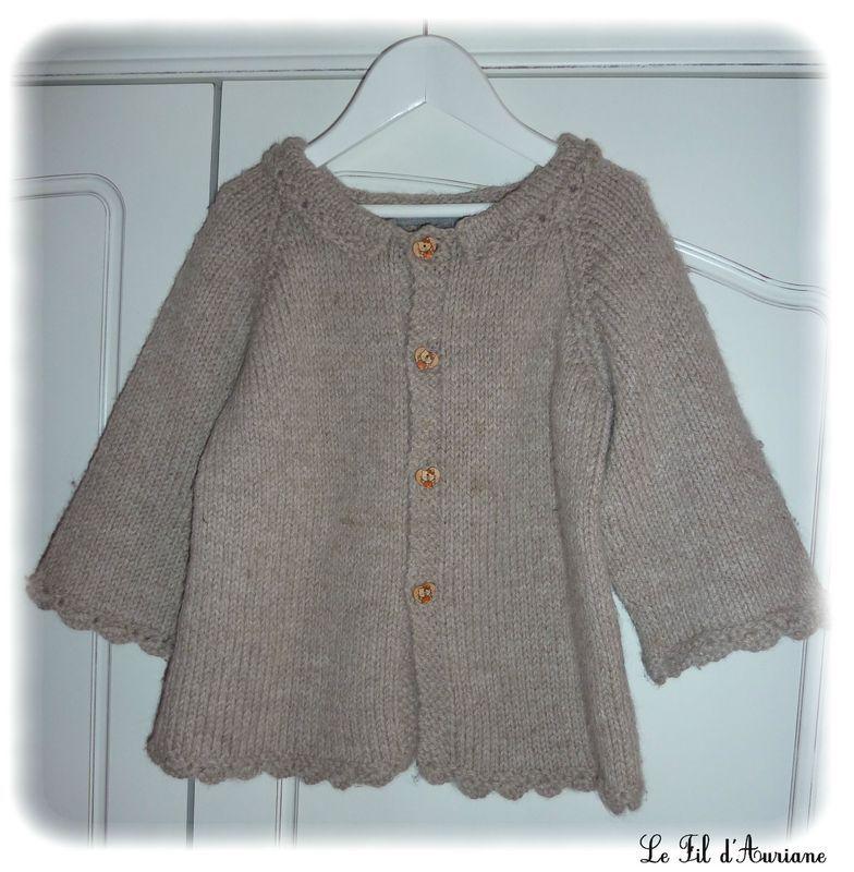 modele gilet fille tricot gratuit