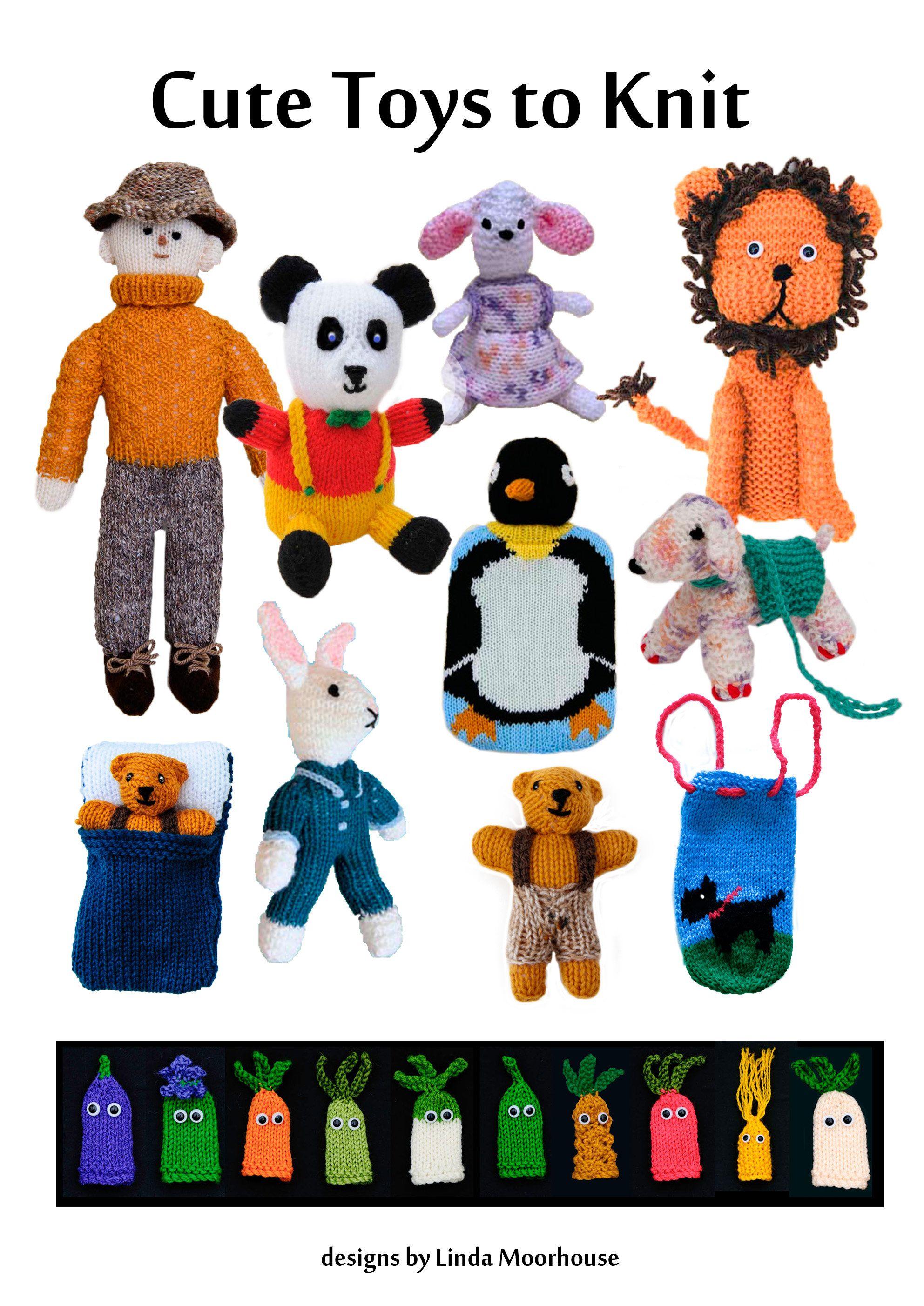 Cute Toys to Knit - Part 1 - PDF knitting pattern - lion, rabbit ...
