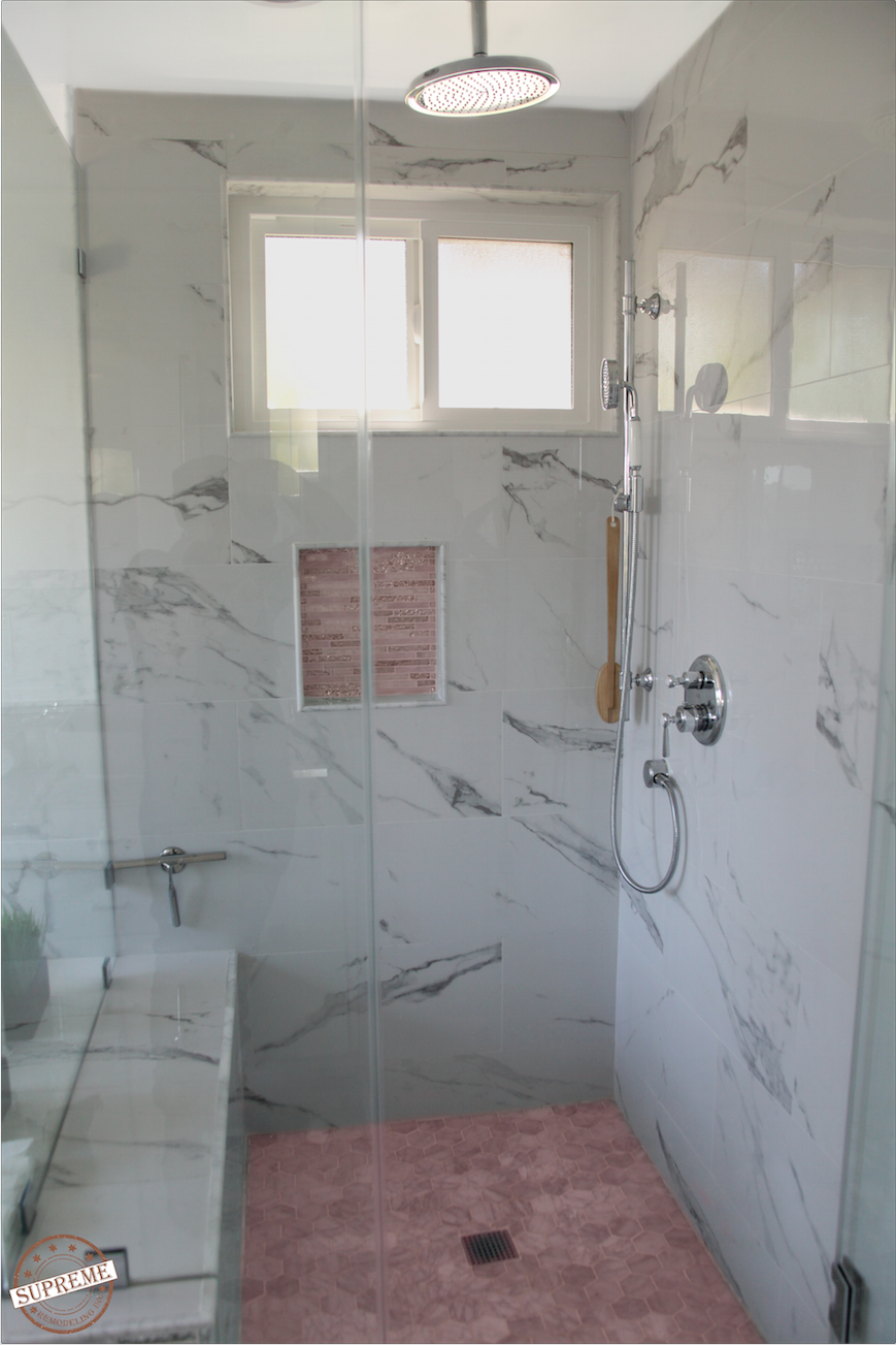 Shower By Supreme Remodeling Woodland Hills CA Finished - Bathroom remodeling woodland hills ca