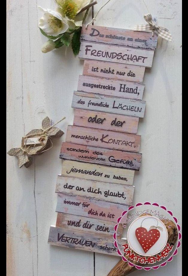 Dekoschild - Freundschaft - pastell | Liebe Freundin, Zum ...