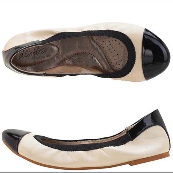 c95881ebaaf7 Size flats black white dexflex comfort black white flats jpg 580x580 Dex  flex