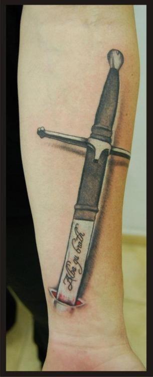 William Wallace S Sword Tattoo Scotland Albagubrath Scotlandforever