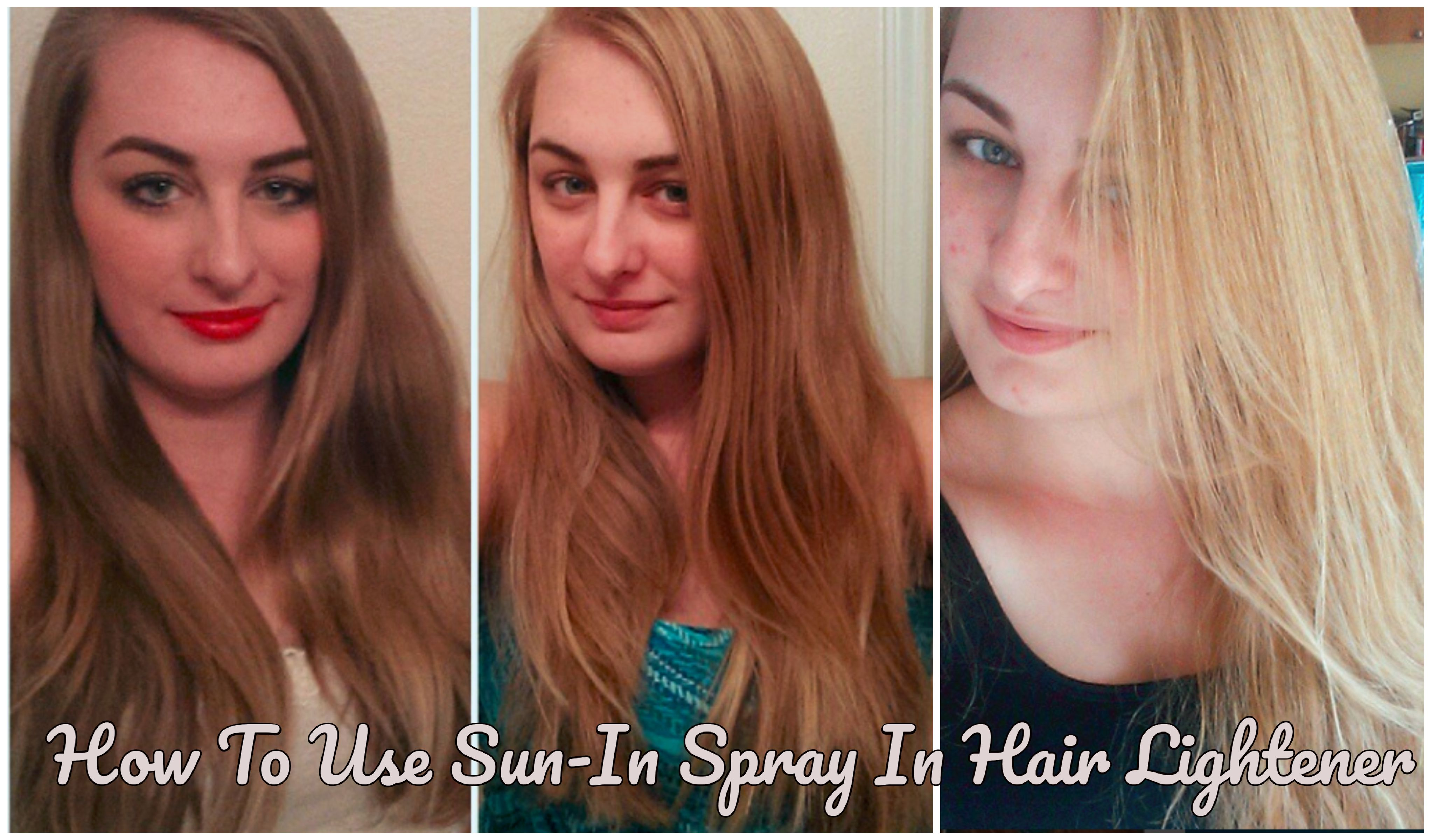 How To Lighten Your Hair Using Sun In Spray Hair Lightener How To Lighten Hair Sun In Hair Sun In Hair Lightener