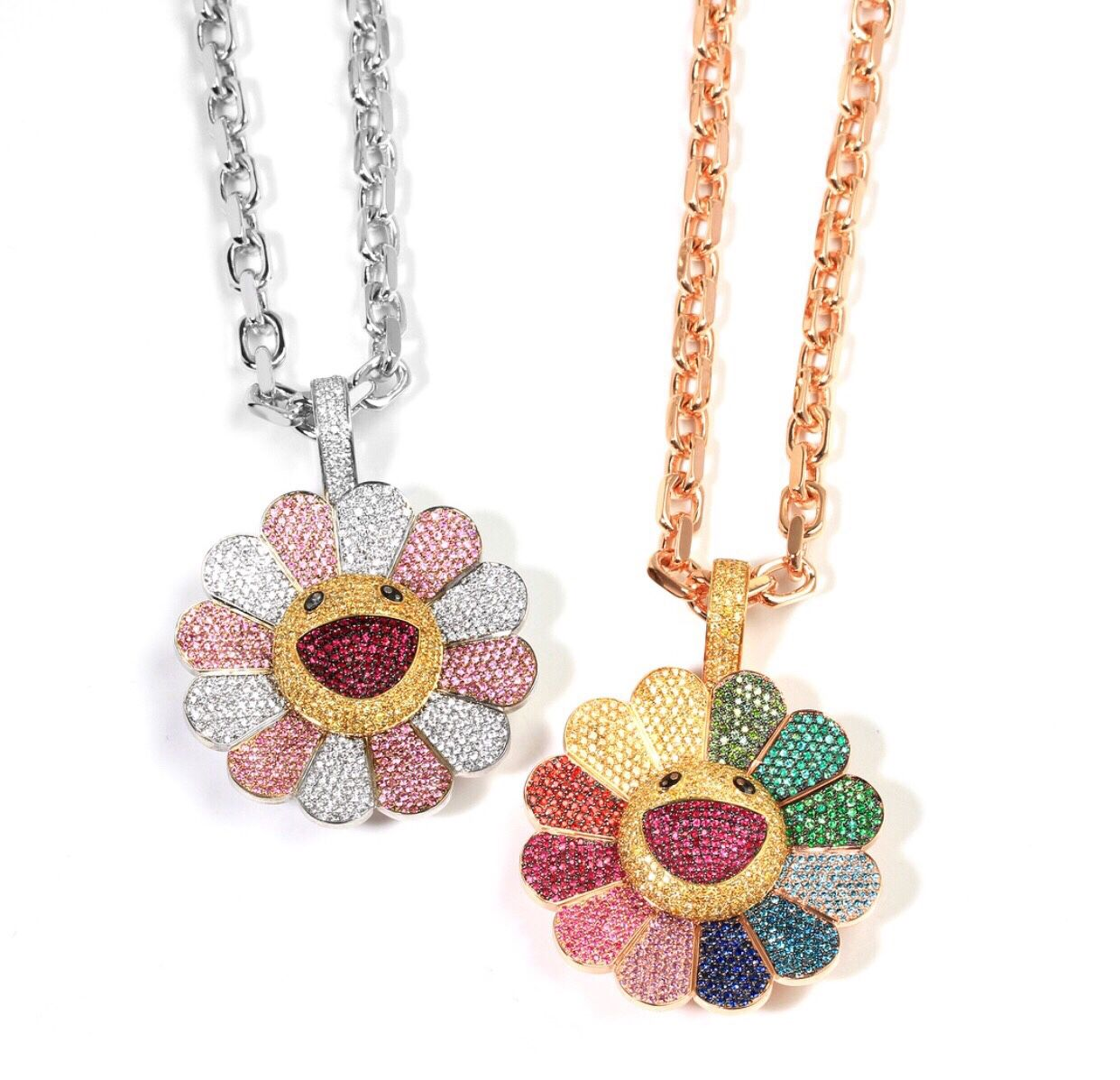 takashi murakami custom spinning flowers pendant